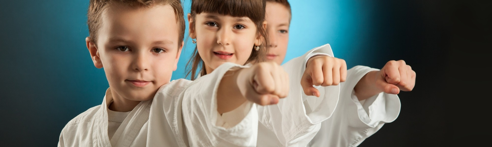 Children Practicing Karate